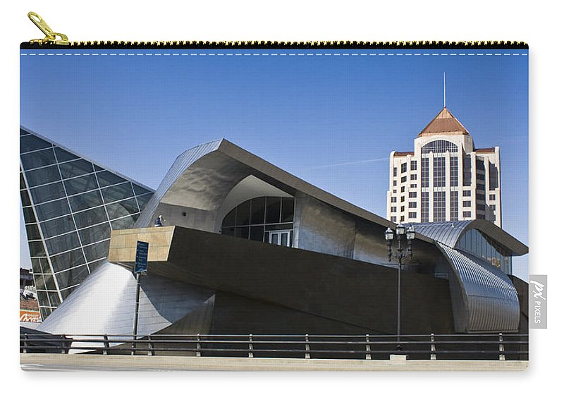Roanoke Carry-all Pouch featuring the photograph Taubman And Tower Roanoke Virginia by Teresa Mucha