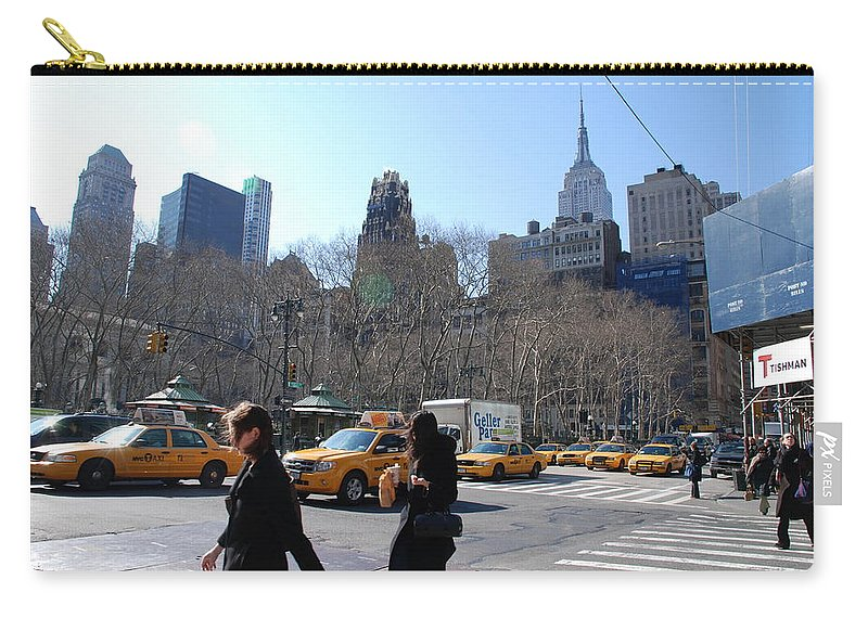 Taxi Carry-all Pouch featuring the photograph Taxi Anyone by Rob Hans