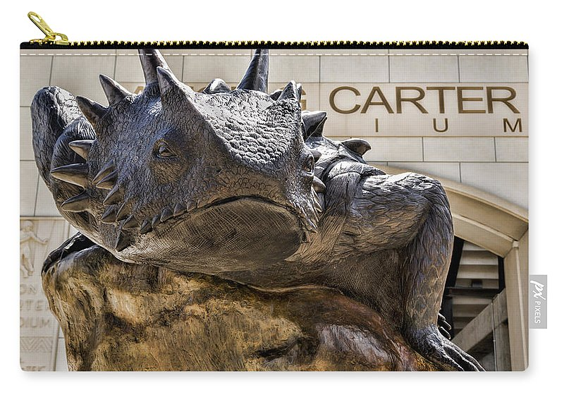 Tcu Carry-all Pouch featuring the photograph Tcu Superfrog No. 5 by Stephen Stookey