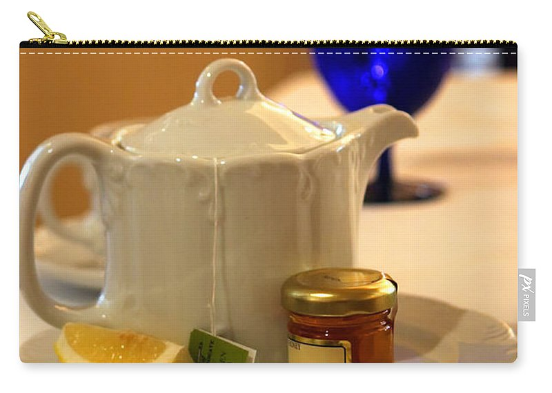 Tea Carry-all Pouch featuring the photograph Tea At The Ritz by Madeline Ellis