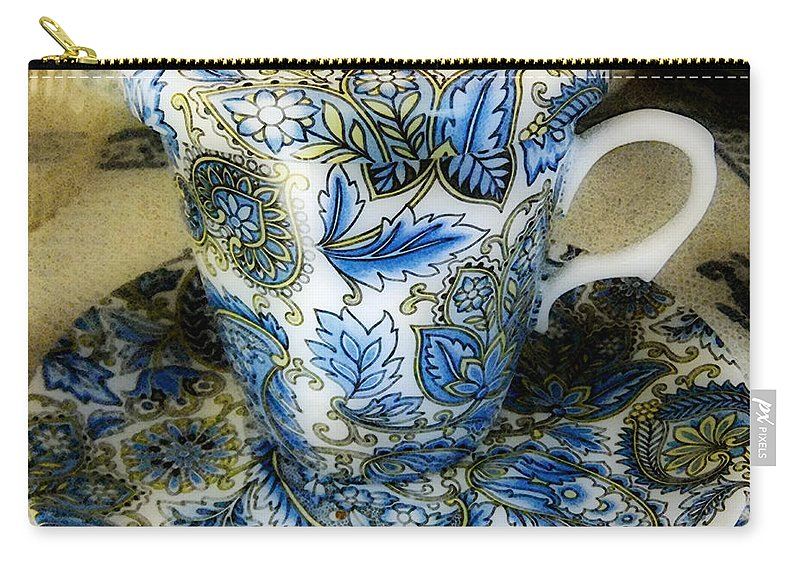 Asian Carry-all Pouch featuring the digital art Tea Is Served by RC DeWinter