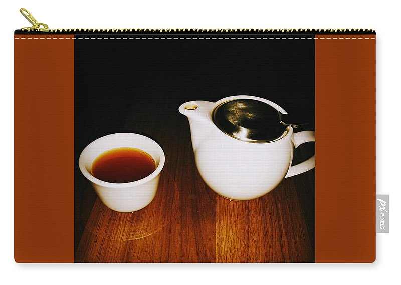 Tea Lovers Carry-all Pouch featuring the pyrography Tea-juana by Albab Ahmed