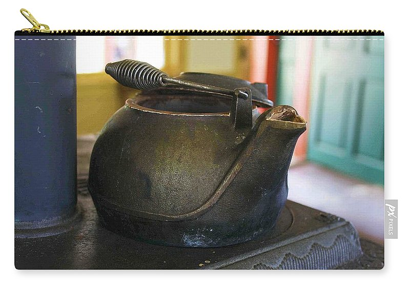 Tea Kettle Carry-all Pouch featuring the photograph Tea Kettle by Nelson Strong