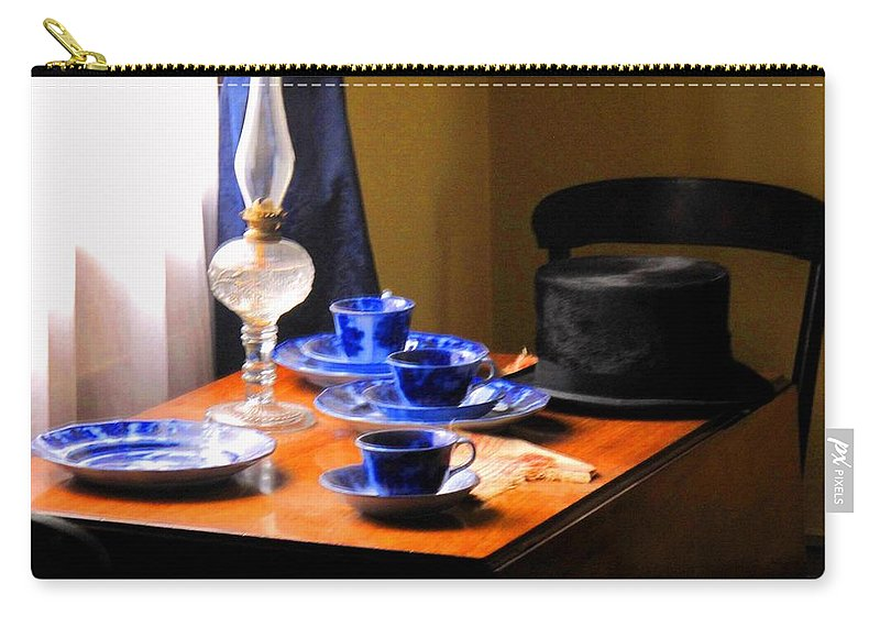 Plate Carry-all Pouch featuring the photograph Tea Time Composition by Ian MacDonald
