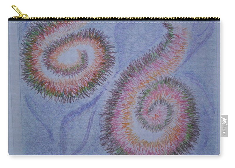 Abstract Carry-all Pouch featuring the drawing Teach Me by Suzanne Udell Levinger