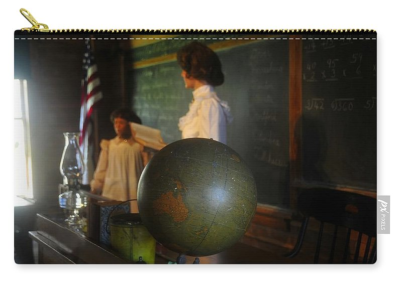 1800s Carry-all Pouch featuring the photograph Teaching Globe by David Lee Thompson