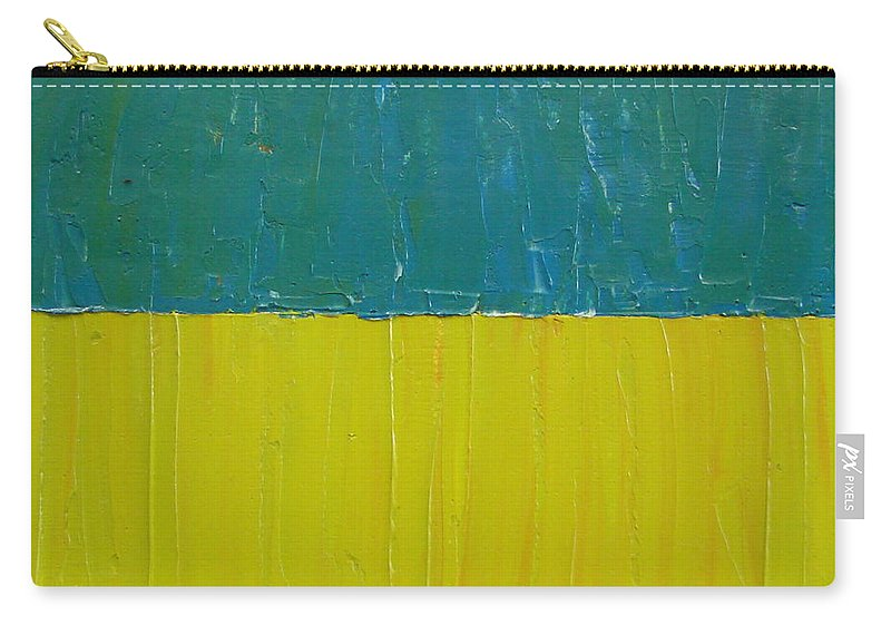 Paint Carry-all Pouch featuring the painting Teal Olive by Michelle Calkins