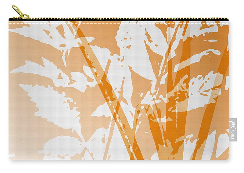 Abstract Carry-all Pouch featuring the digital art Team Orange by Ruth Palmer