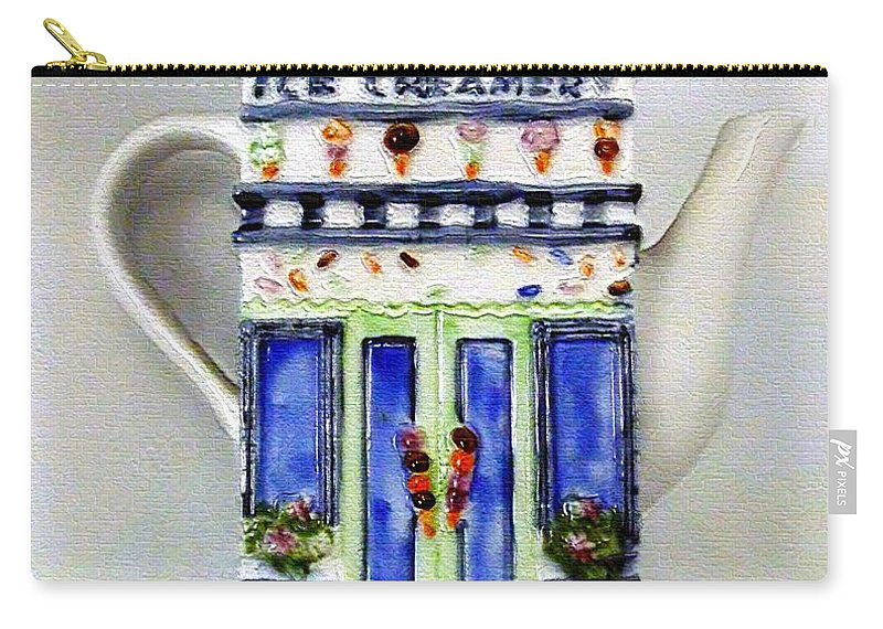 Crockery Carry-all Pouch featuring the painting Teapot Delusional by RC DeWinter