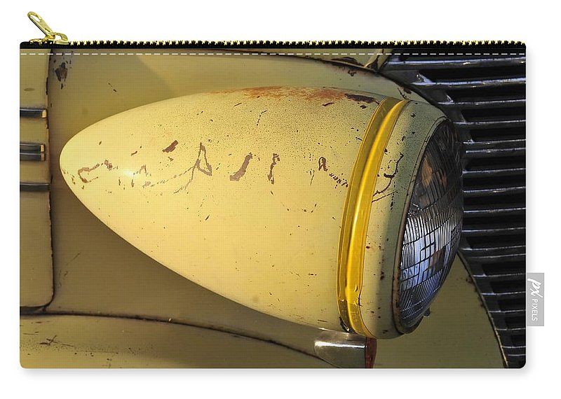 Teardrop Carry-all Pouch featuring the photograph Teardrop Headlight by David Lee Thompson
