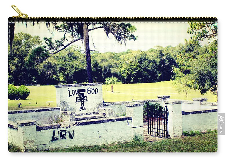 Shannon Carry-all Pouch featuring the photograph Tearful Vandalism by Shannon Sears