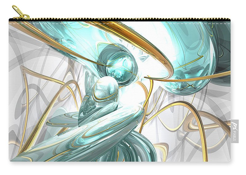 3d Carry-all Pouch featuring the digital art Teary Dreams Abstract by Alexander Butler