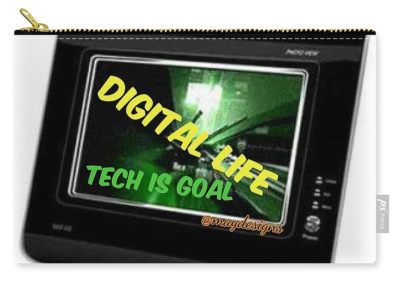 Landscape Carry-all Pouch featuring the digital art Tech Is Goal by Mary Godwin
