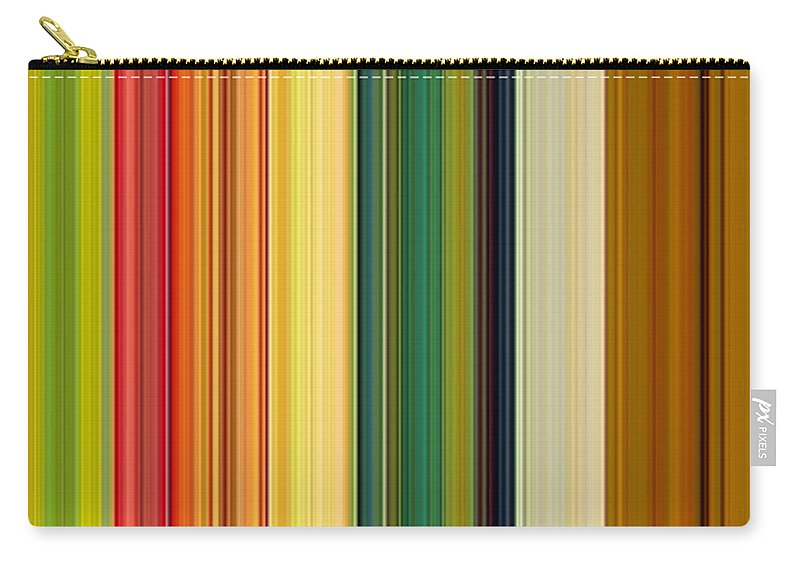 Stripes Carry-all Pouch featuring the digital art Technicolor Dreams by Michelle Calkins