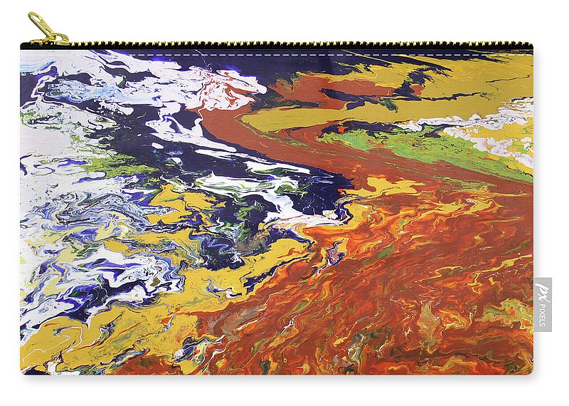Fusionart Carry-all Pouch featuring the painting Tectonic by Ralph White