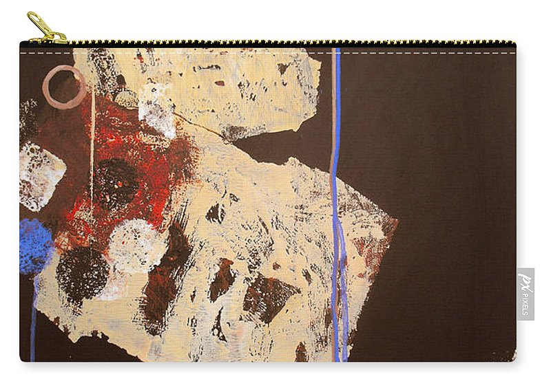 Abstract Carry-all Pouch featuring the painting Teeter by Ruth Palmer