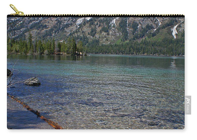 Grand Tetons Carry-all Pouch featuring the photograph Teewinot by Heather Coen
