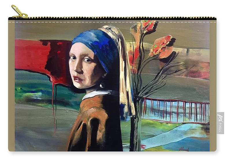 Robert Abkorovits Carry-all Pouch featuring the painting Teibute To The Master2 by Robert Abkorovits