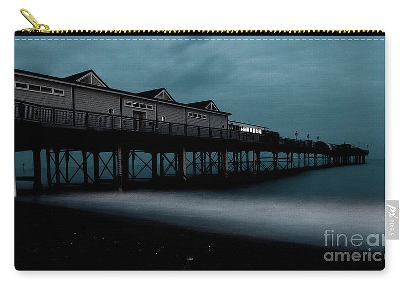 Teignmouth Carry-all Pouch featuring the photograph Teignmouth Pier At Dusk by Rob Hawkins