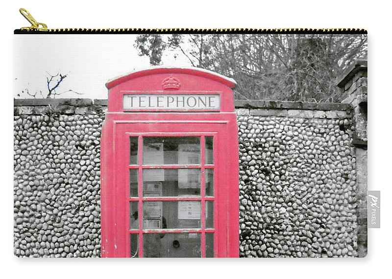Telephone Carry-all Pouch featuring the photograph Telephone by Julia Raddatz