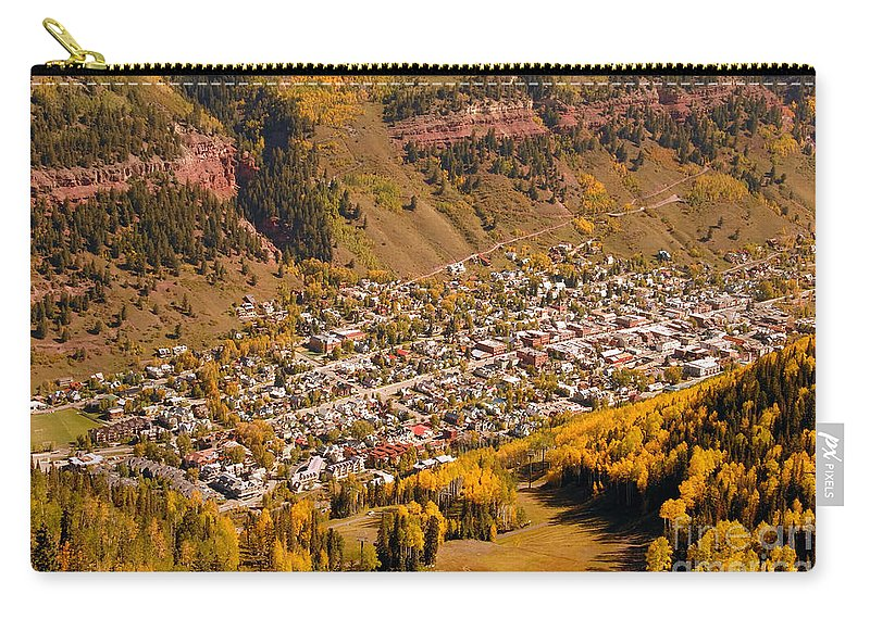 Telluride Colorado Carry-all Pouch featuring the photograph Telluride by David Lee Thompson