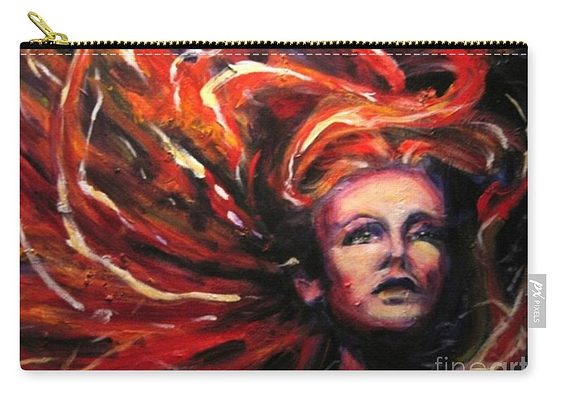 Bright Carry-all Pouch featuring the painting Tempest by Jason Reinhardt