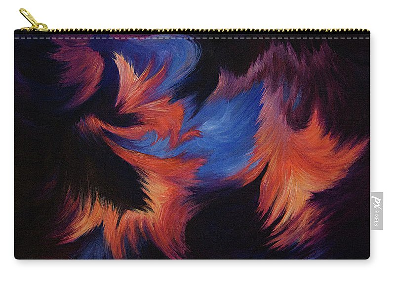 Abstract Carry-all Pouch featuring the painting Tempest by Rachel Christine Nowicki