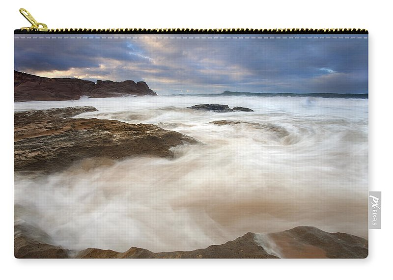 Bowl Carry-all Pouch featuring the photograph Tempestuous Sea by Mike Dawson