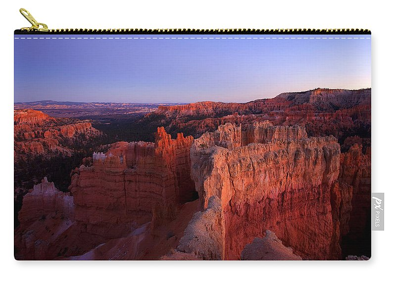 Hoodoo Carry-all Pouch featuring the photograph Temple of the setting sun by Mike Dawson
