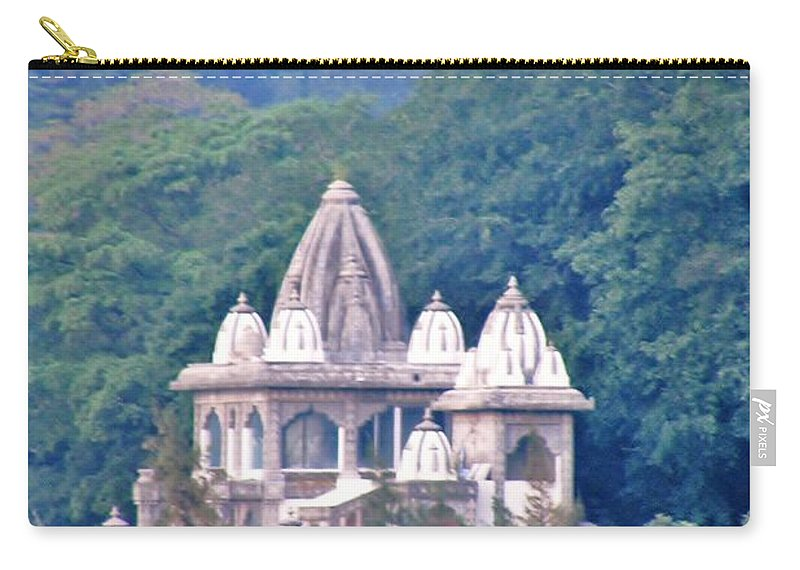 Temple Carry-all Pouch featuring the photograph Temple In The Distance - Rishikesh India by Kim Bemis