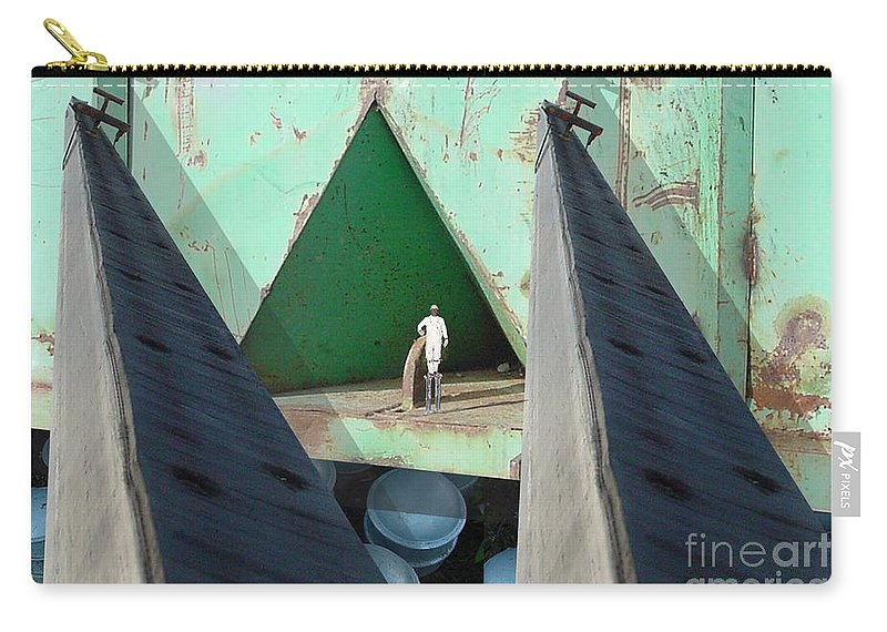 Abstract Carry-all Pouch featuring the digital art Temple by Ron Bissett