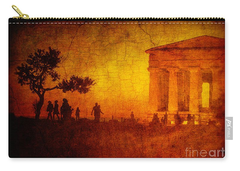 Temple Carry-all Pouch featuring the photograph Temple by Silvia Ganora