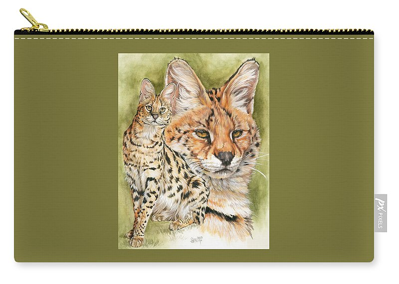 Serval Carry-all Pouch featuring the mixed media Tempo by Barbara Keith