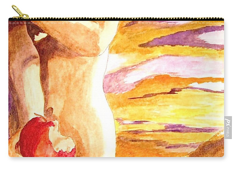 Watercolor Carry-all Pouch featuring the painting Temptation by Herschel Fall