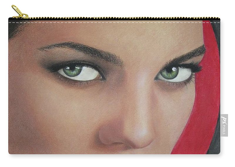 Woman Carry-all Pouch featuring the painting Temptation by Lynet McDonald