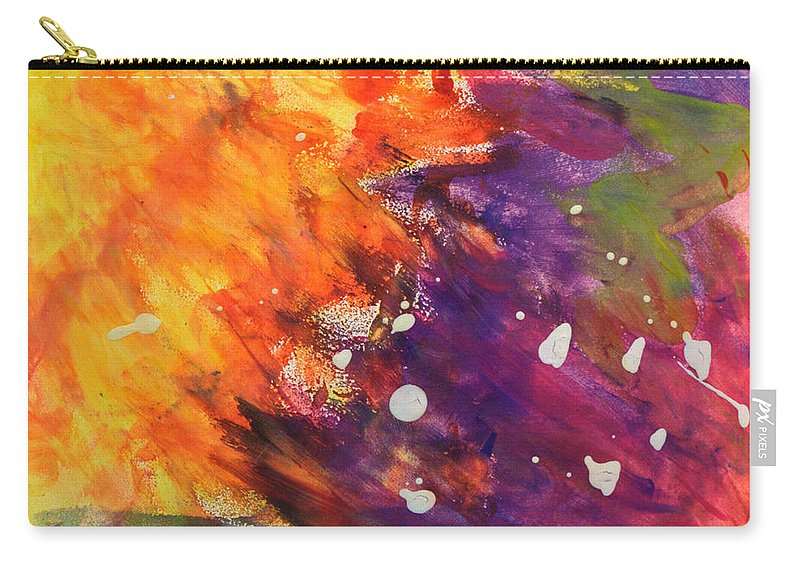 Abstract Carry-all Pouch featuring the painting Temptation by Mary Collins