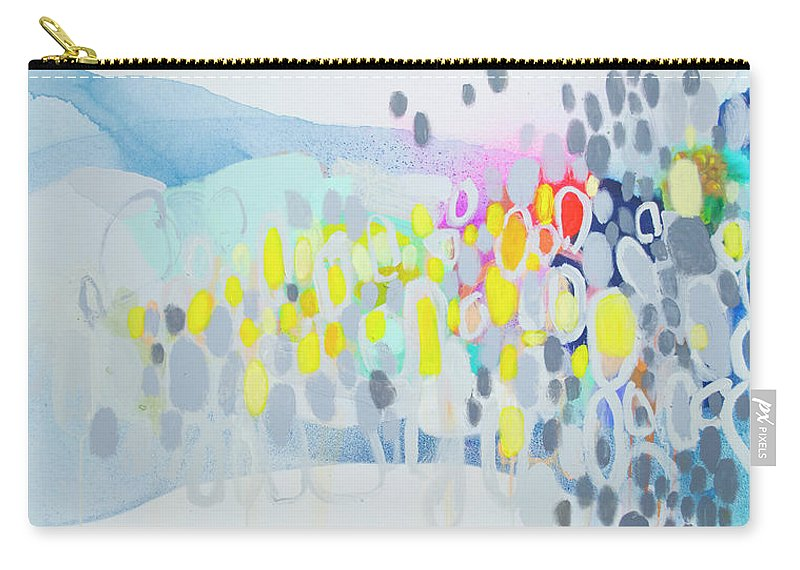 Abstract Carry-all Pouch featuring the painting Ten O'clock Flight by Claire Desjardins