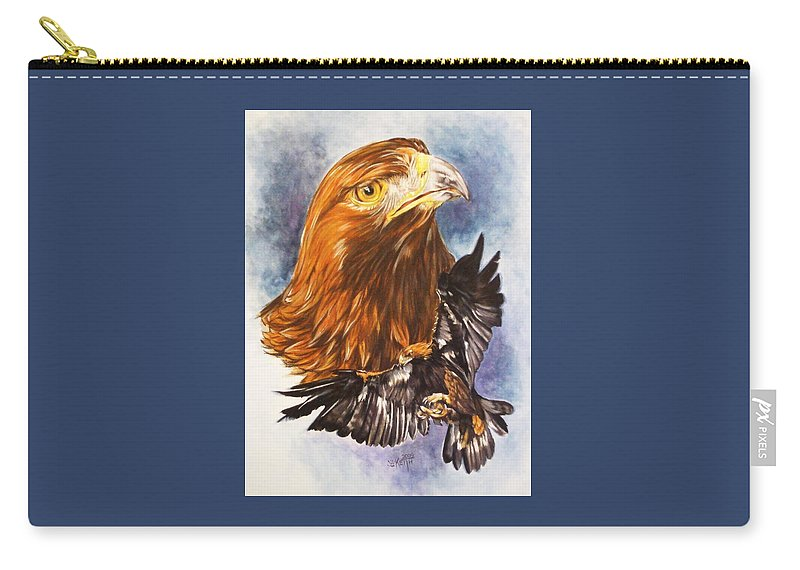 Eagle Carry-all Pouch featuring the mixed media Tenacity by Barbara Keith