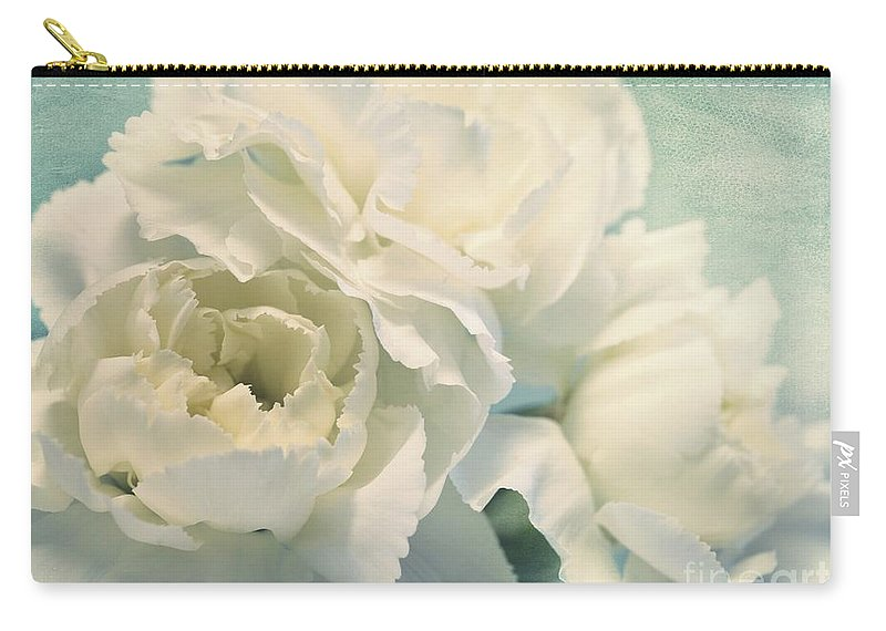 Carnation Carry-all Pouch featuring the photograph Tenderly by Priska Wettstein