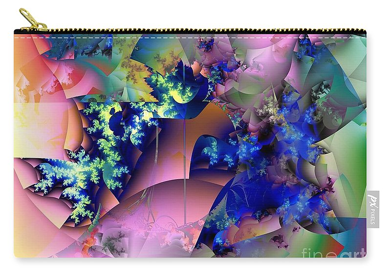 Flowers Carry-all Pouch featuring the digital art Tending Toward Flowers by Ron Bissett