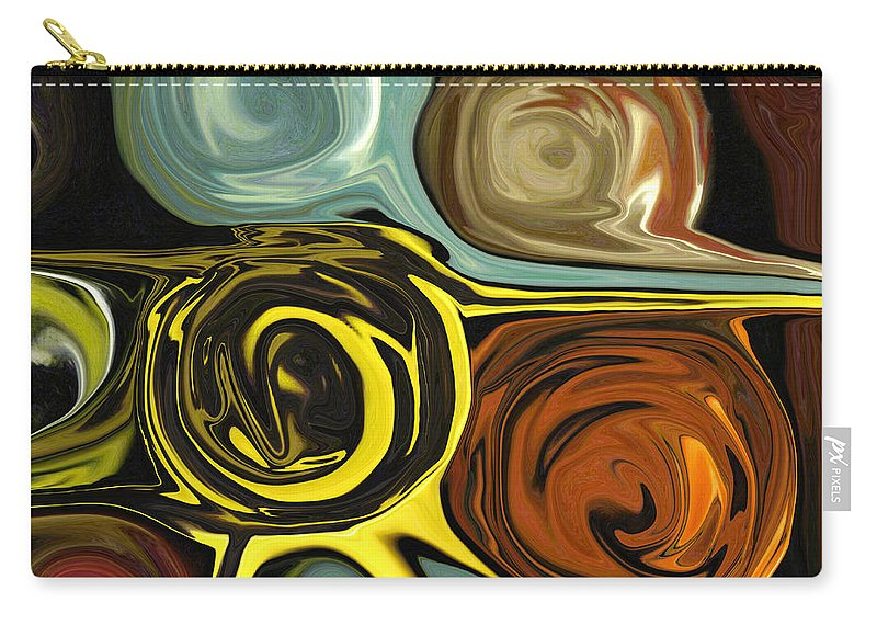 Circles Carry-all Pouch featuring the digital art Tendrils by Mary Bedy