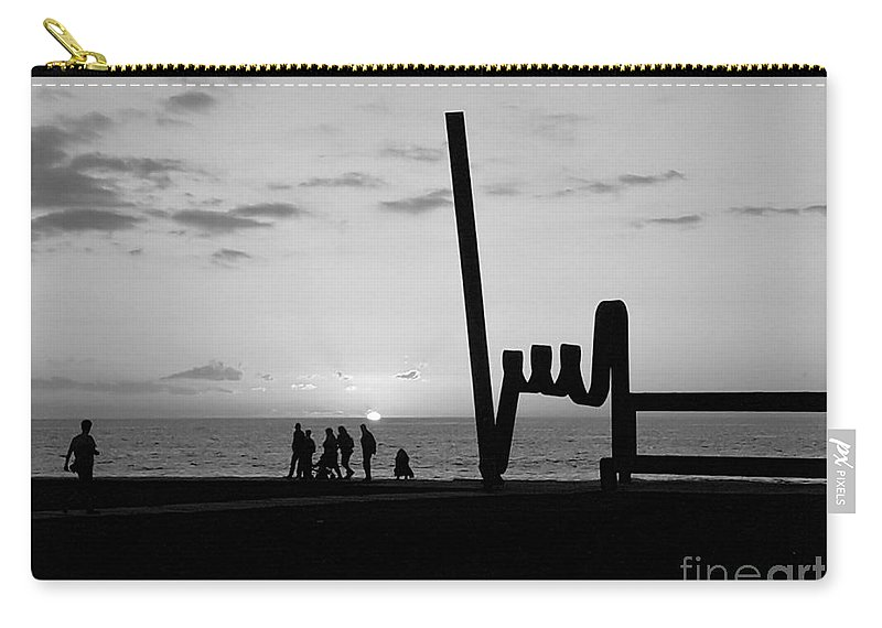 Foto Carry-all Pouch featuring the photograph Tenerife / Playa De Las Americas by Karina Plachetka