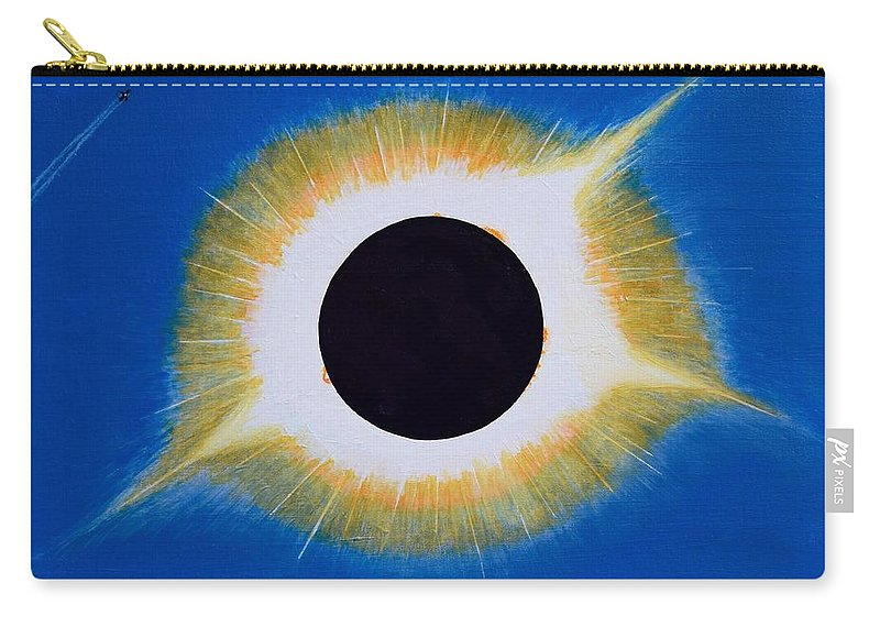 Tennessee Carry-all Pouch featuring the painting Tennessee Eclipse by Timothy Smith