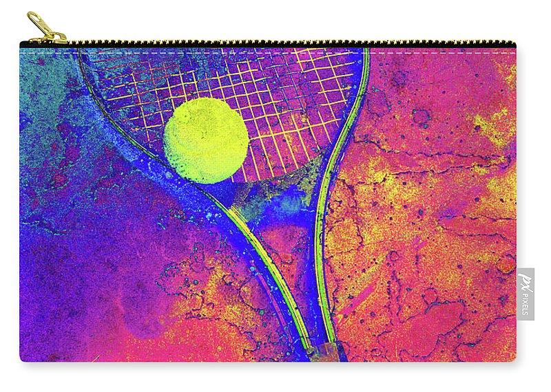 Tennis Carry-all Pouch featuring the digital art Tennis Art Version 1 by Takumi Park