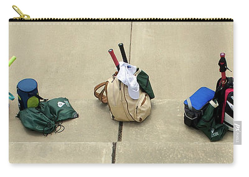 Scenic Tours Carry-all Pouch featuring the photograph Tennis Banner by Skip Willits