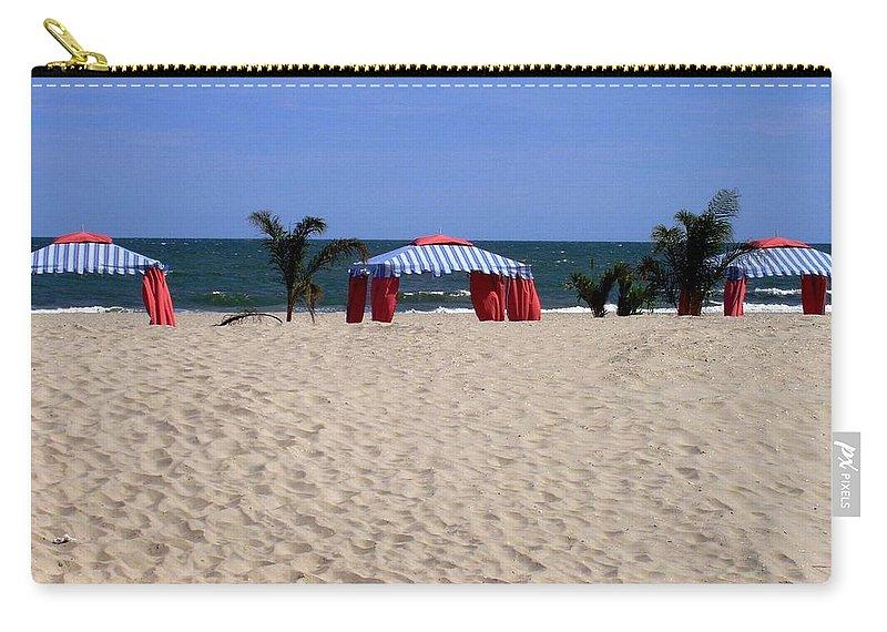 Beach Carry-all Pouch featuring the photograph Tent Caravan by Deborah Crew-Johnson