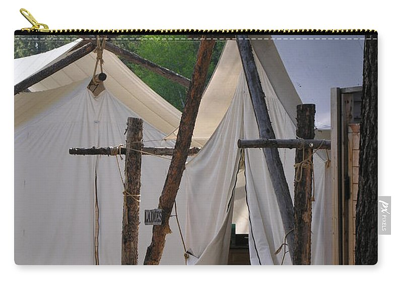 Montana Carry-all Pouch featuring the photograph Tent Living Montana by Diane Greco-Lesser