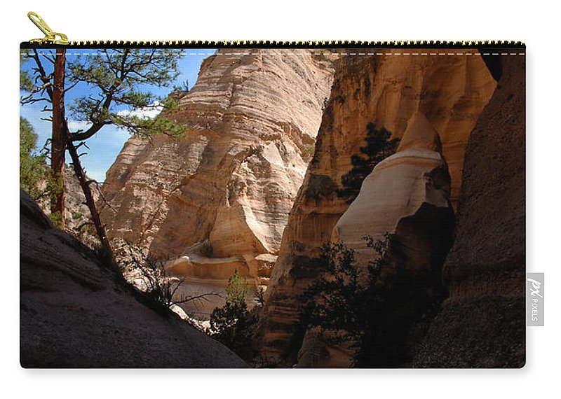 Tent Rocks Wilderness New Mexico Carry-all Pouch featuring the photograph Tent Rocks Canyon by David Lee Thompson