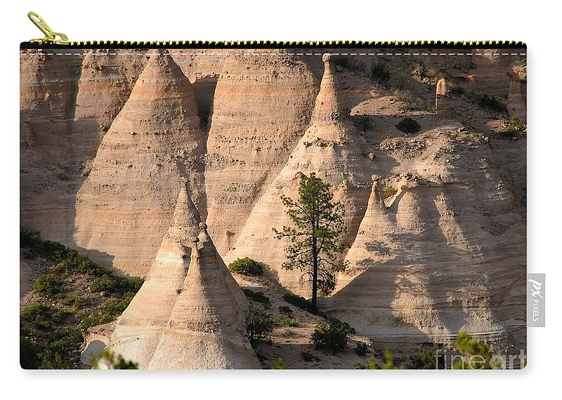 Tent Rocks Wilderness Carry-all Pouch featuring the photograph Tent Rocks Wilderness by David Lee Thompson
