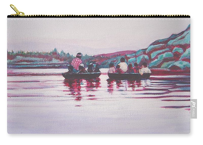 Teppa Carry-all Pouch featuring the painting Teppa Ride by Usha Shantharam